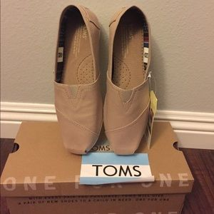 Brand New Toms Light Grey Shoes